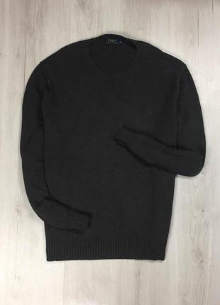 F7 свитер ralph lauren ральф лоурен чёрный кофта пуловер джемпер