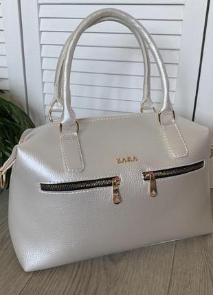 Большая женская сумка жемчуг