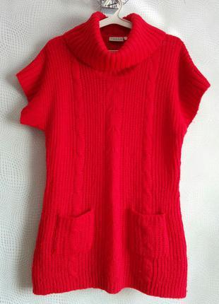 Накидка свитер пончо