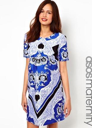 Супер качественное и стильное хлопковое платье для беременных