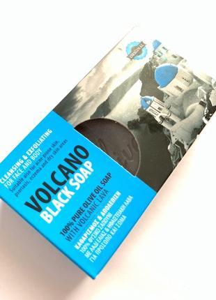 Olive spa volcano black soap 100%