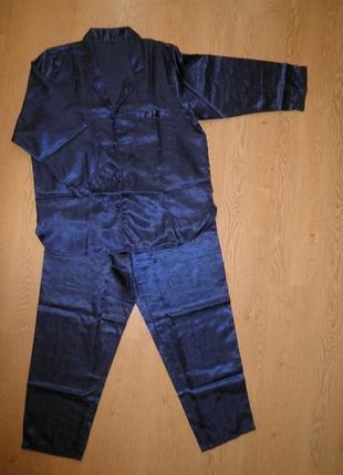Классическая пижама комплект рубашка -штаны размер l китай