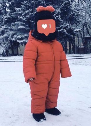 Комбенизон, детский красный комбез