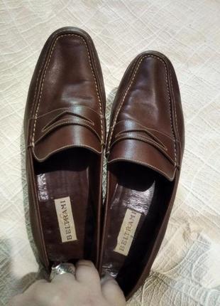 Кожаные коричневые лоферы beltrami