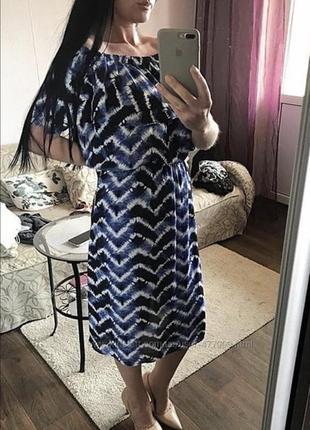Красивое платье с воланом большой размер