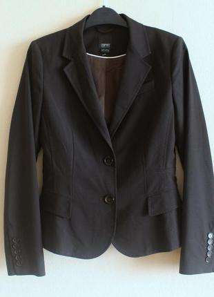 Стильный деловой пиджак жакет блейзер esprit клубный школа офис институт классика