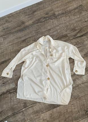 Рубашка оверсайз сатиновая zara s-m