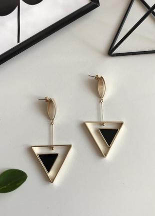 Стильні сережки подвески, висюльки , серьги геометрія 💎з сайту asos