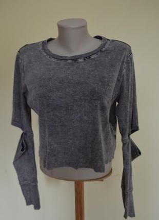 Модная прикольная брендовая котоновая кофточка блузочка