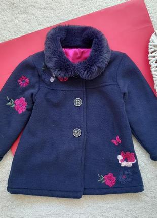 Демисезонное пальто nutmeg для девочки 1,5-2года рост 86-92см