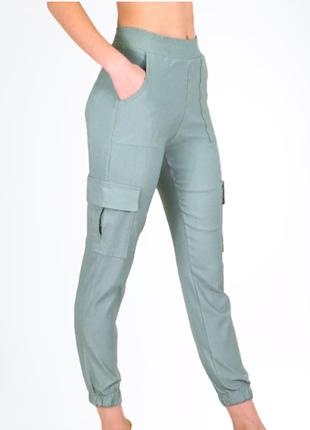 Джоггеры, брюки на манжете, штаны с карманами, штаны с манжетом, карго, 5 расцветок!