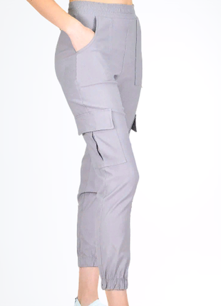 Джоггеры, брюки на манжете, штаны с карманами, штаны на манжетом, карго. 5 расцветок!