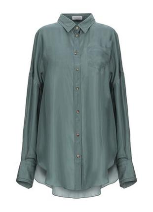 Шелковая рубашка emporium, стиль celine jil sander cos