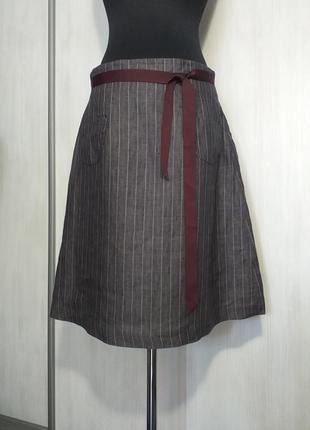 🔥распродажа!🔥дизайнерская льняная юбка от alan manoukian