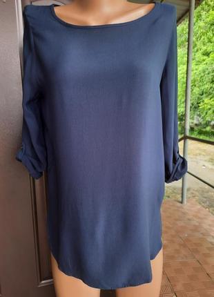 Блуза темно синего цвета