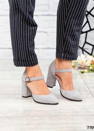 Элитные замшевые открытые туфли босоножки