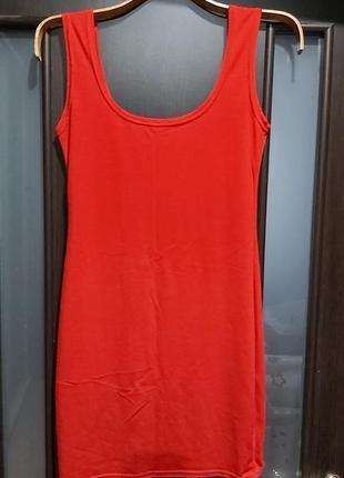 Платье  летнее сукня размер 42-44 красное s