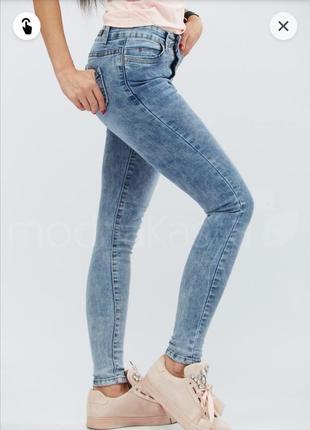 Вываренные джинсы джегинсы варенки скинни размер xs s