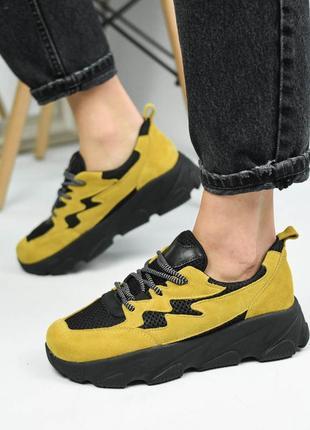 Кросівки ando borteggi  yellow жіночі