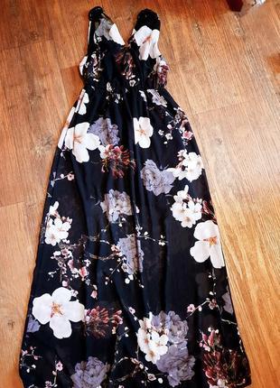 Сарафан  платье макси принт цветы