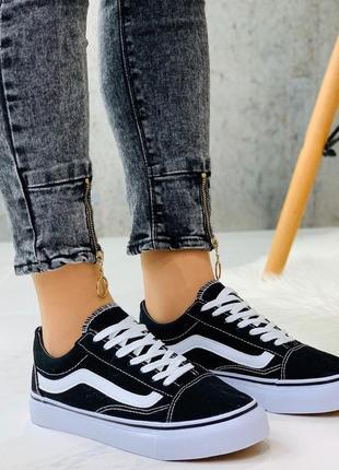 Новые шикарные женские чёрные кроссовки кеды