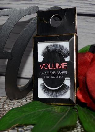 Накладные ресницы ps primark volume false eyelashes glue included