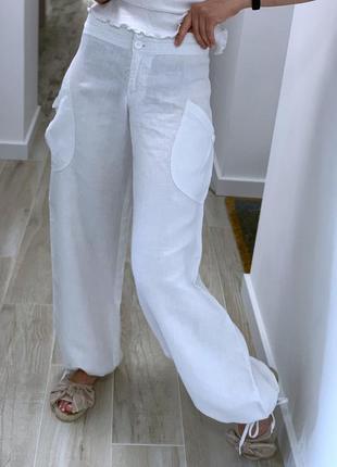 Льняные , летние штаны h&m