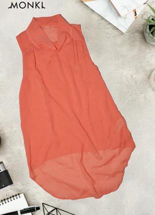 Асимметричная коралловая блуза-топ monki