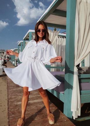 Вільна сукня-сорочка оверсайз на гудзики плаття платье