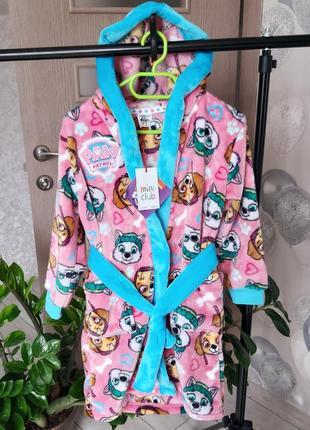 Махровый халат mini club от reserved для девочки щенячий патруль