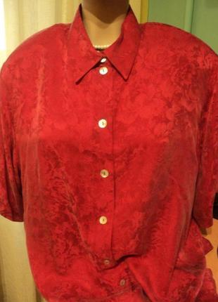 Шикарная 🌺💚♥️100%шелковая блузка