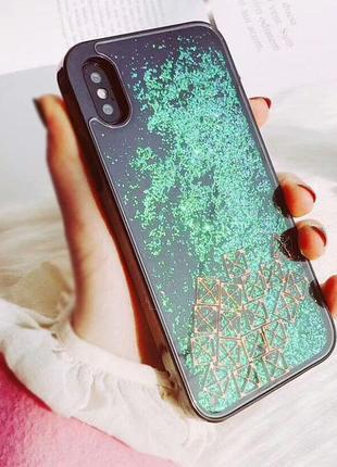"Чехол liquid (glitter) для apple iphone x (5.8"") / xs (5.8"")"