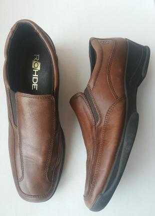 Мужские кожаные туфли 41-42р  rohde