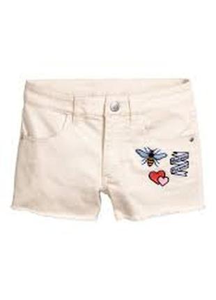 Шорты джинсовые нарядные девочке 13 - 12 лет h&m