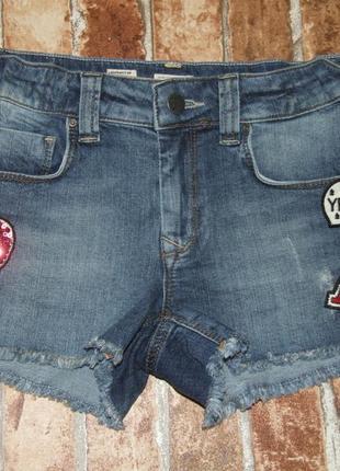 Шорты джинсовые нарядные девочке 13 - 14 лет
