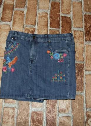 Шорты джинсовые нарядные девочке 13 - 14 лет monsoon