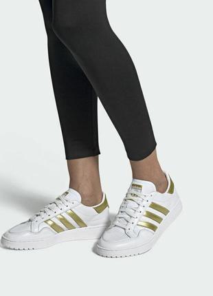Adidas team court кожаные женские кроссовки, качество luxe оригинал!