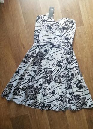 📢распродажа! котоновый сарафан с открытыми плечами, плаття, платье на брителях, сукня