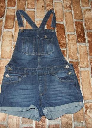 Ромпер летний комбинезон девочке 12 - 11 лет джинсовый