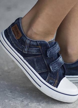 """Кеды подростковые высокого качества """"джинс"""" 2307"""