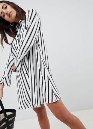 Платье рубашка в полоску asos