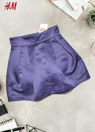 Объемная атласная юбка с глубоким цветом h&m