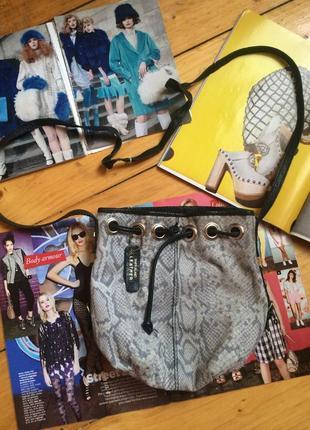 Кожаная сумка мешок zara mango