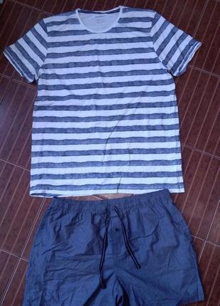 Мужская пижама, комплект для дома livergy р. 56-58 батал!