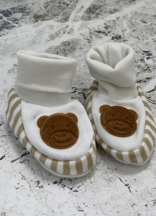 Носочки тапочки для новорождённого