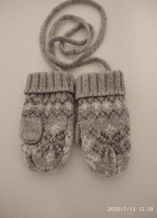 Варежки, рукавицы для девочки, для мальчика, унисекс, для малышей.