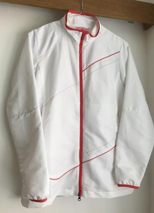 Куртка спортивная тонкая ветровка белая sport tech