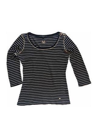 Модный лонгслив футболка в полоску weekend max mara италия /993/