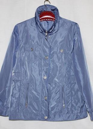 Лёгкая куртка ветровка батал голубая atelier gs германия 16р 52-56