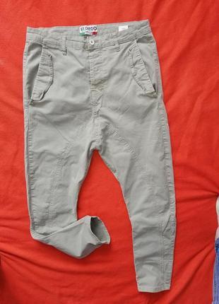 Стильные брюки с матней унисекс st.diego 46 в прекрасном состоянии